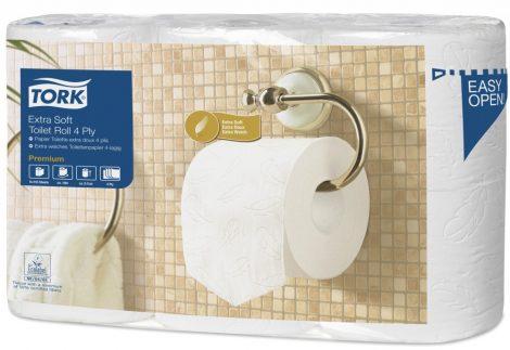Tork Prem. toalettpapír házt. 4 rét. soft, 7*6 tek/csom
