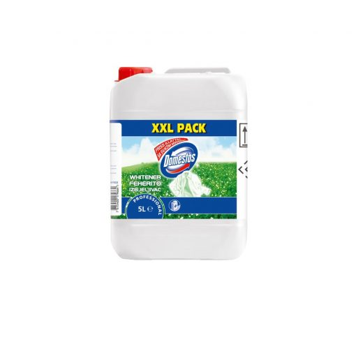 Domestos Professional Whitener fehérítő, fertőtlenítő folyékony mosószer, 5 liter