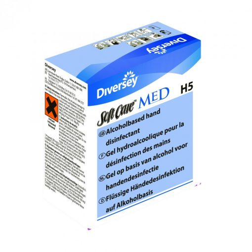 Soft Care Med H5 IC adagolós kézfertőtlenítő gél, 4*1,3 liter