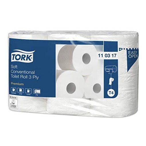 Tork Premium kistekercsestoalettpapír, 3 réteg, T4, 7*6 tekercs/csomag