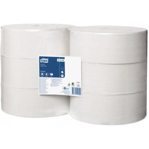 Tork Universal Toalettpapír, jumbo, 1 réteg, 480,0 m, törtfehér, 2400 lap, 26 cm átmérő, 6 tekercs/csomag