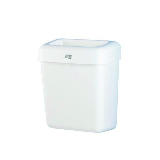 Tork hulladékgyűjtő, fehér, műanyag, 20 literes, falra szerelhető