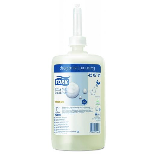 Tork Prem. Soap Liquid illatmentes foly. szappan, 1 liter