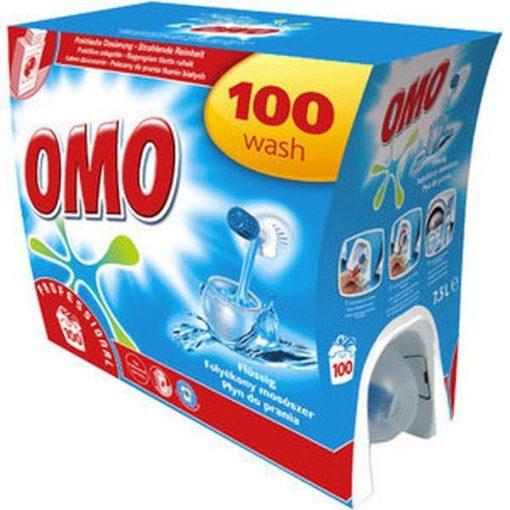 Omo Professional folyékony mosószer, fehér + világos ruhákhoz, 7,5 liter