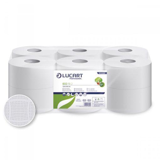 Midi toalettpapír, Lucart Eco 19 J, 19 cm átmérő, 2 réteg, 12 tekercs/csomag