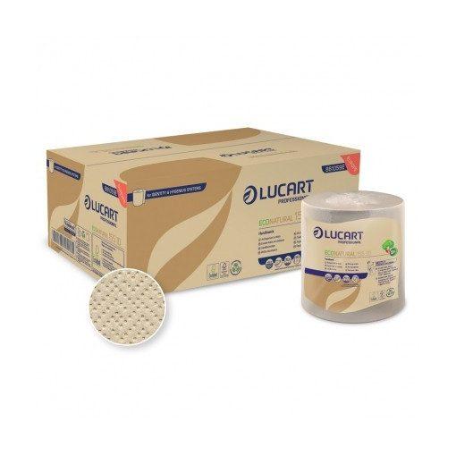 Lucart EcoNatural 155 ID kéztörlő, 2 réteg, 155 m, 6 tekercs/csomag