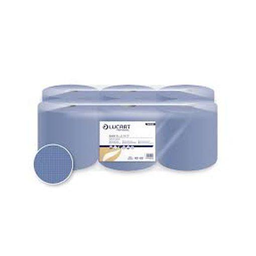 Centroclean kéztörlő, Lucart Easy Blue 19 CF, 19 cm átm., 130 m, kék, 1 rét.