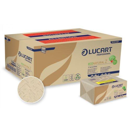 """Z-hajt. kéztörlő """"Ecolucart"""", 2 réteg, barna, 18*220 lap/karton"""