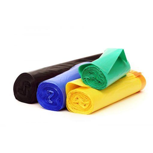 Hulladékgyűjtőzsák, 50*55 cm, 20 db/roll, fekete