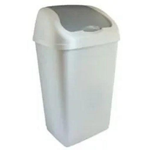 Billenő tetejű szemetes, műanyag, 35 literes